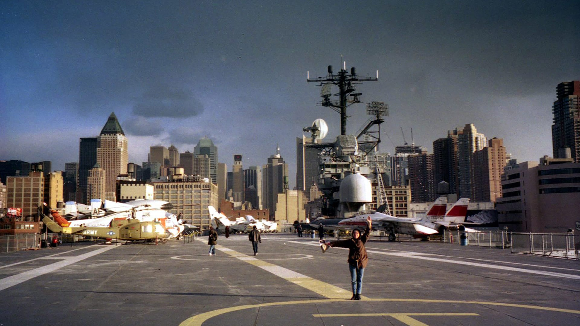 View of the New York skyline from aboard the Intrepid. Photo by David Monniaux via Wikipedia