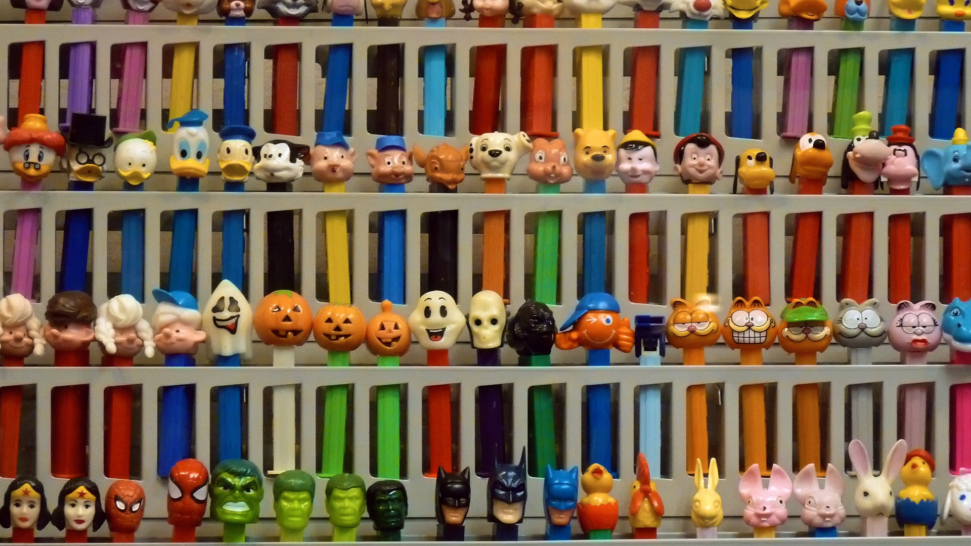 Display at the Pez Museum. Photo by Ingrid Taylar viaFlickr