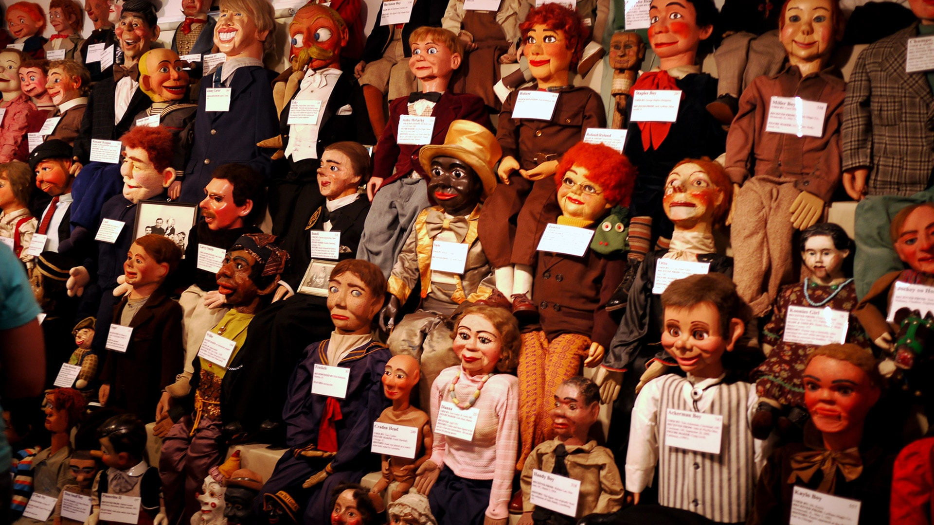 Vent Haven Ventriloquism Museum exhibition. Photo by 5chw4r7z via Flickr